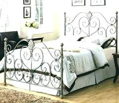 wrought iron bed frame queen