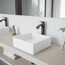 vigo dianthus matte stone vessel sink and linus bathroom vessel faucet in antique rubbed bronze w