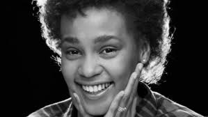 whitney black white. Whitney Houston In February 1982 When She Was A Senior High School During Her First Black White