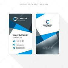 Black 124307644 Double-sided Card Design Vertical Blue Stationery Illustration Business Colors Template Vector Flat Stock © — And Antartstock
