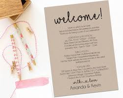 Wedding Itinerary Welcome Letter Wedding Itinerary Printable By ModernSoiree On Zibbet 14