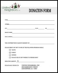 Printable Donation Form Template Printable Donation Form Template Room Surf Com
