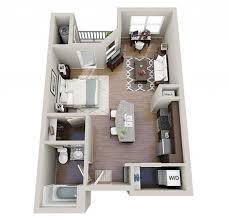 Studio apartment furniture layout Vintage 32 Interior Design Ideas Studio Apartment Floor Plans