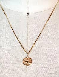 14k solid gold sand dollar 16 inch