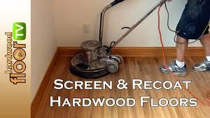 screen hardwood floors buff recoat
