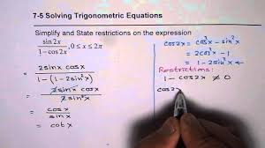 concept of solving trigonometric equations with restrictions