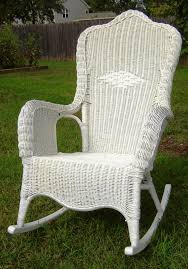 wicker rocking chair. High Back Wicker Rocking Chair