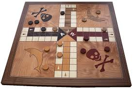 Wooden Ludo Board Game QJS Marquetry Game Boards 43