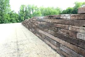 building retaining wall building a retaining wall with railroad ties retaining wall from railroad ties build