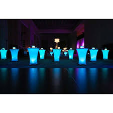 Lighted Cocktail Tables For Rent Led Disklyte Lights Up Cocktail Tables Buydisklyte Under