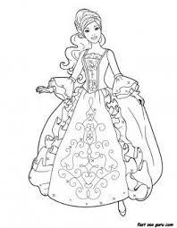 Printable Barbie Princess Dress Book Coloring Pages Printable