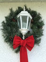 Garage Light Christmas Decorations Christmas Wreath With Bow From Michaels For The Outside