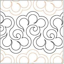 332 best Free Motion Quilting Techniques images on Pinterest ... & pantograph quilting patterns | Halcyon-quilting-pantograph-pattern-Lorien- Quilting. Adamdwight.com