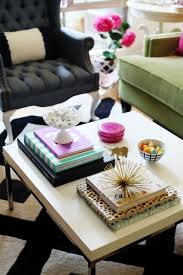 curate a stack or a few a coffee table