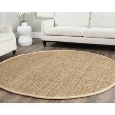 white sofa ideas and round jute rug in living room design ideas