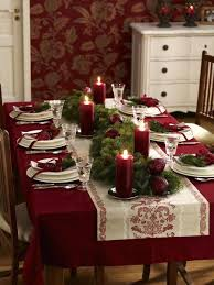 Christmas Dining Table Decorations Christmas Decorations For Dining Room  Table Tartan Christmas Sets