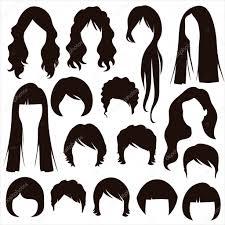 髪のシルエット女性の髪型 ストックベクター Eveleen 42337205