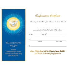 confirmation certificate set of 50