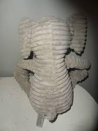 k k interiors plush grey elephant ribbed