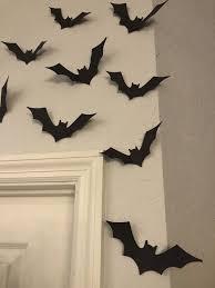 Target/party supplies/paper halloween decorations (774). Black Bats Halloween Bats Wall Bats Card Stock Bats Etsy Halloween Crafts Decorations Cheap Diy Halloween Decorations Cute Halloween Decorations