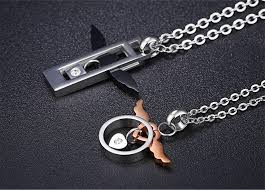 chain necklaces his and hers matching cross necklaces matching jewelry for him and her