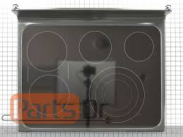 range oven parts glass cooktop