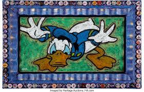 Bob Zeno Outsider Style Donald Duck Painting Original Art | Lot ...
