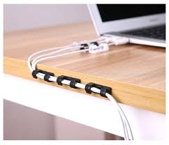 cable holder for desk cable winder earphone cable organizer wire storage charger cable holder clips desk