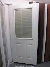 exterior door glass inserts with blinds. surplus equipment and materials from lumberyard exterior door glass inserts with blinds