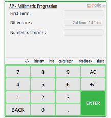 arithmetic progression ap calculator