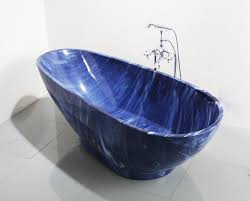Blue Bathtub china 2017 luxury blue cloudy irregular acrylic free standing 6151 by xevi.us