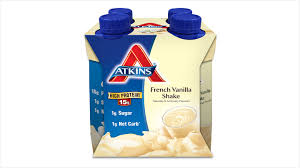 atkins shakes from the creators of the atkins t are marketed as a snack or light meal replacement flavors of atkins shakes include cookies and creme