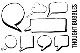 Word Bubble Templates Thought Bubble Doodle Speech Bubble Photos Graphics Fonts