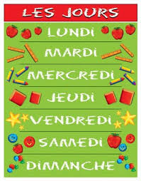 French Days Of The Week Language For Little Learners French Days Of The Week
