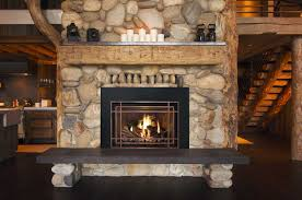 Decorations:Cool Rock Stone Fireplace Wall Idea Unique Fireplace Design  With Wooden Floor Idea