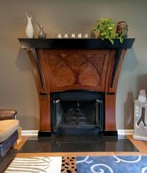 custom made art nouveau fireplace