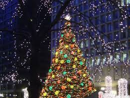 christmas tree lighting chicago. Chicago, Illinois\u0027 Daley Plaza Christmas Tree Glisten And Shine, It Is Surrounded By A Christkindlmarket That Draws On The Century Nuremberg Lighting Chicago I