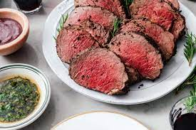 Nobu matsuhisa seared beef tenderloin with tangy, spicy red chile sauce and even spicier orange chile sauce he serves both sauces with this seared beef tenderloin. Beef Tenderloin With A Giant Sauce Board I Am A Food Blog