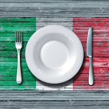 Italian Table Setting Italian Cuisine Food Concept As A Place Setting With Knife And