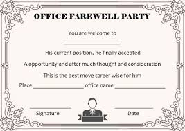 Farewell Invites For Colleagues Farewell Party Invitation Template 23 Custom Party