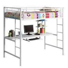 metal workstation desk twin loft bunk