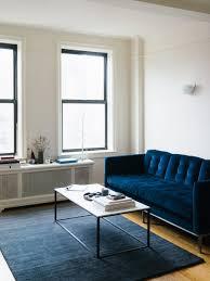 blue velvet sofa freshen the room in your house awesome blue velvet sofa with rectangle