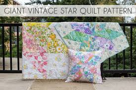 In Color Order: Giant Vintage Star Quilt Tutorial & **If you'd rather have this tutorial in downloadable/printed form, check  out the Giant Vintage Star Quilt Pattern. It features a throw quilt, baby  quilt, ... Adamdwight.com