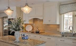 glass tile backsplash white cabinetry new venetian gold granite grace style and stunning appearance kitchen 22 25