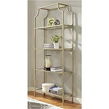 Image Vintage Pemberly Row Glass Bookcase In Antique Gold Amazoncom Amazoncom Monarch Bookcase 72