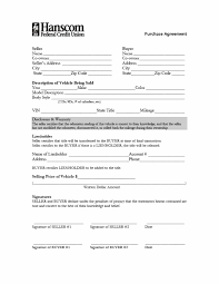 003 Template Ideas Vehicle Purchase Agreement Car Payment