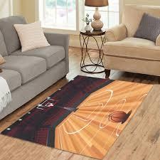 fashion floor decorator basketball court area rug floor rug room carpet