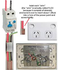 electrical engineer rcd circuit breaker connected to a power point