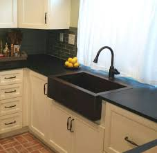 picture of 30 small single well copper farmhouse sink