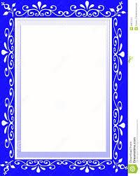 frame border design. Blue Flower Designer Frame Border Design S